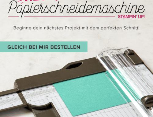 Neuer Stampin' Up! Papierschneider – verfügbar ab 01.11.!