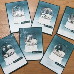 Alle Schneekugel-Karten aus dem Workshop