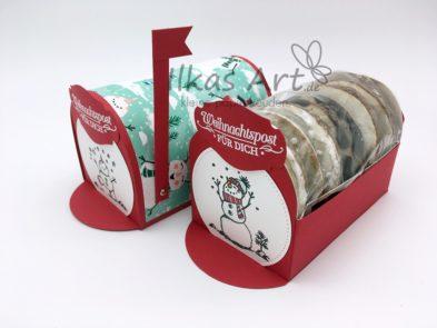 Weihnachtlicher Lebkuchenbriefkasten