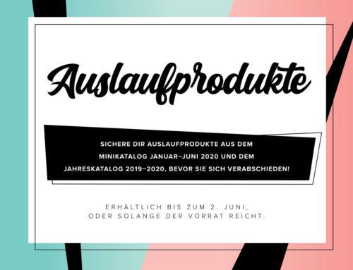 Auslaufliste 2020 – diese Produke sind nur noch für kurze Zeit verfügbar!